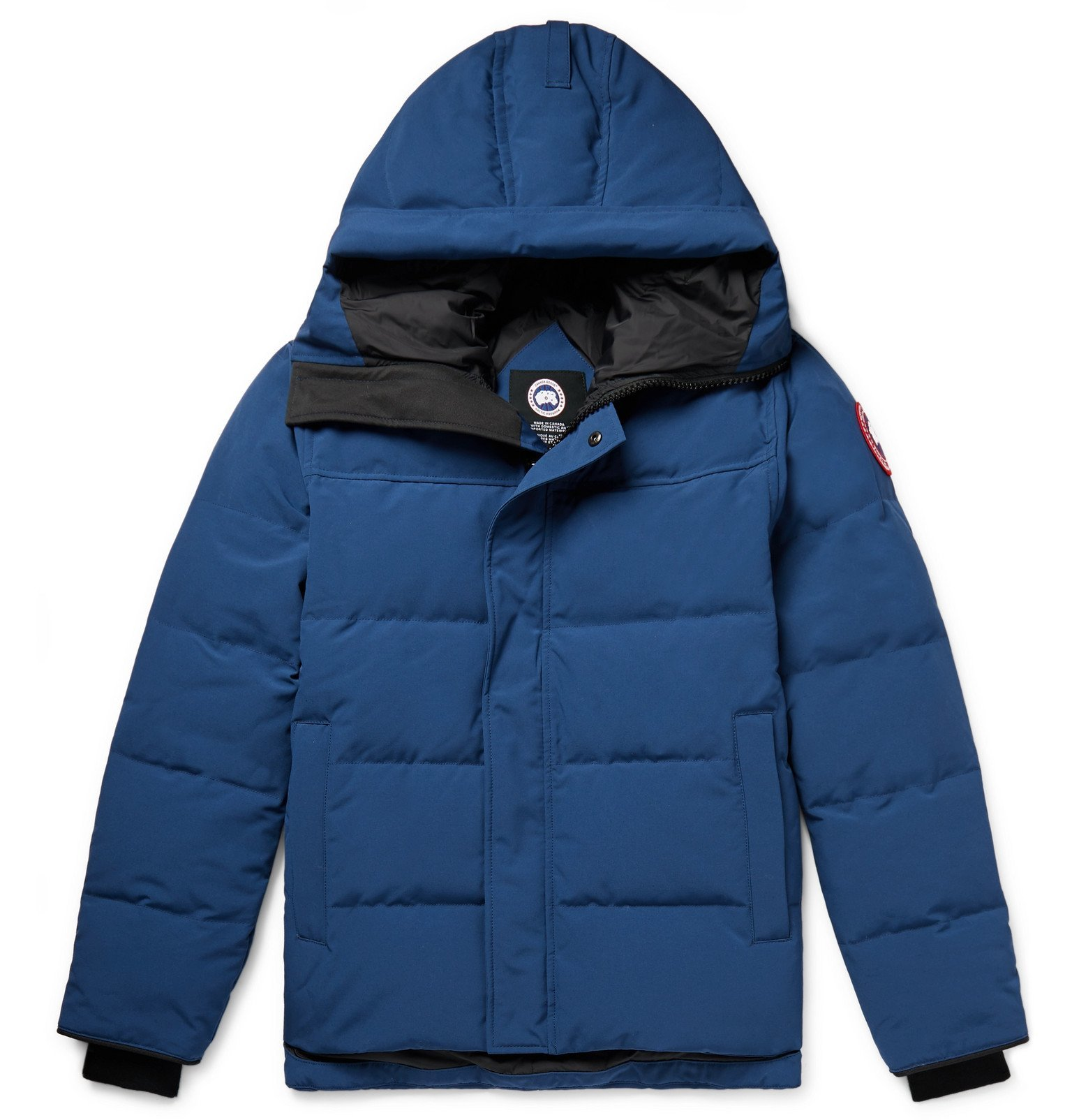 Photo: Canada Goose - MacMillan Fusion Fit Quilted Arctic Tech Hooded Down Parka - Blue