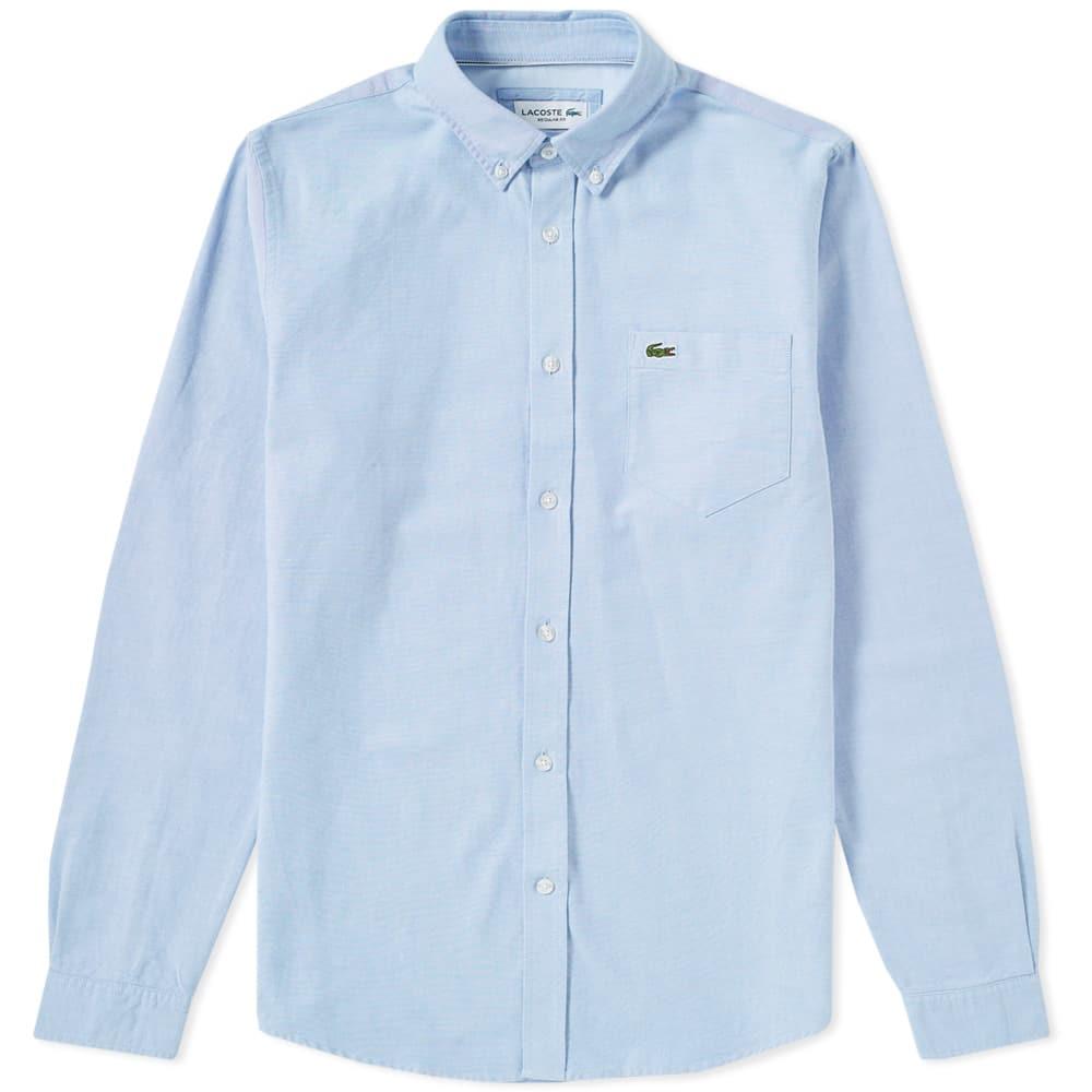 Photo: Lacoste Button Down Oxford Shirt Blue
