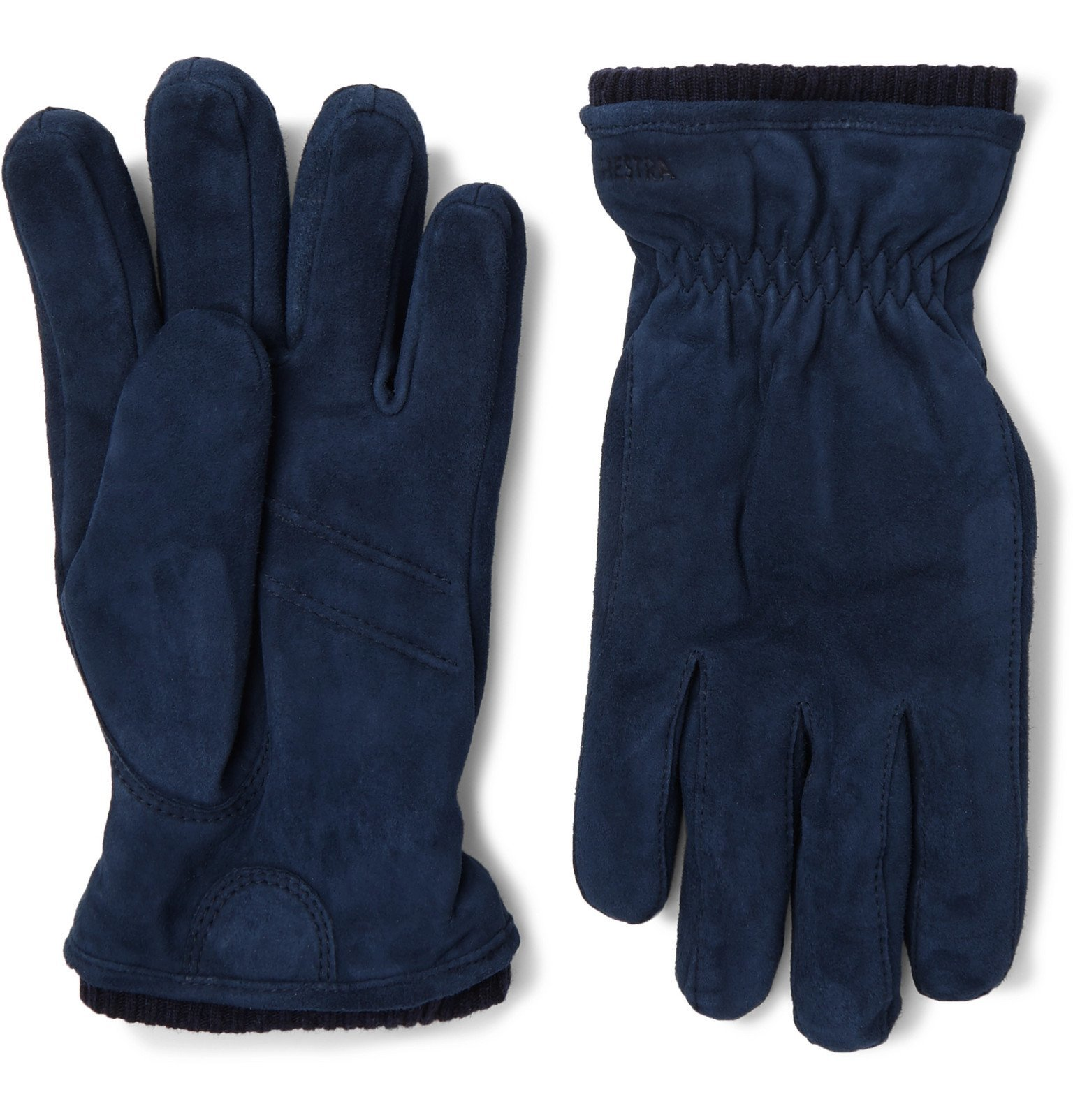Photo: Hestra - Nathan Suede Gloves - Blue