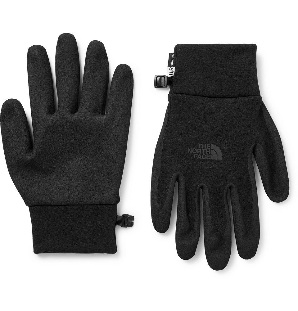 Photo: The North Face - Etip Grip and Tech-Fleece Gloves - Black