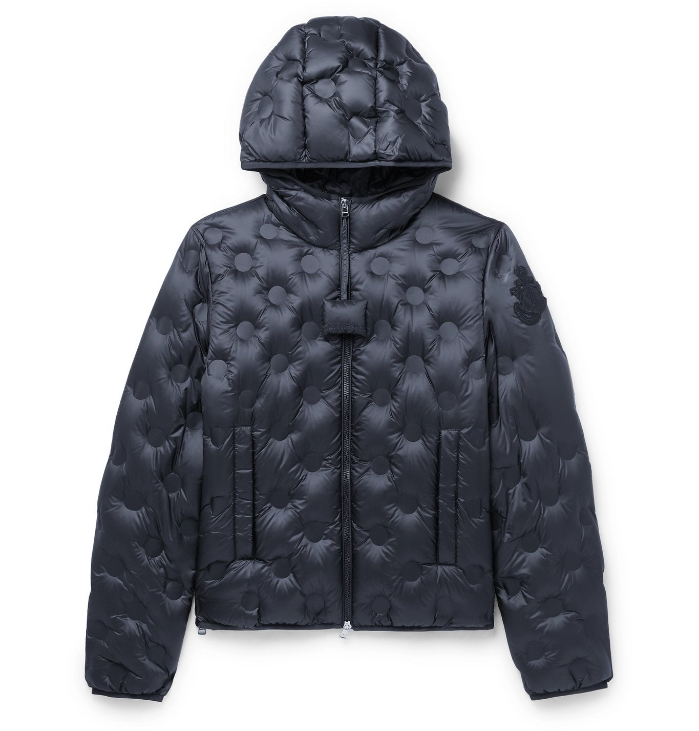 Photo: Moncler Genius - 1 JW Anderson Abbotts Quilted Nylon Hooded Down Jacket - Blue