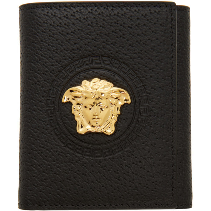 Photo: Versace Black Palazzo Trifold Wallet