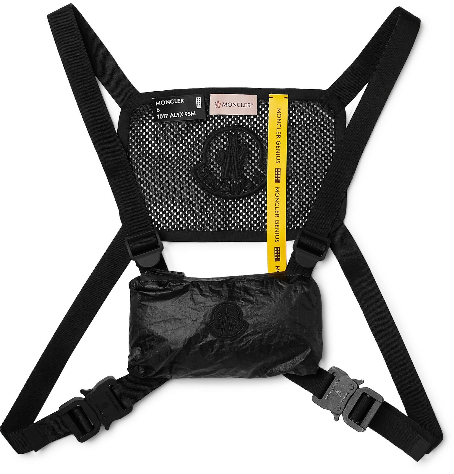 Photo: Moncler Genius - 6 Moncler 1017 ALYX 9SM Mesh and Shell Harness - Black