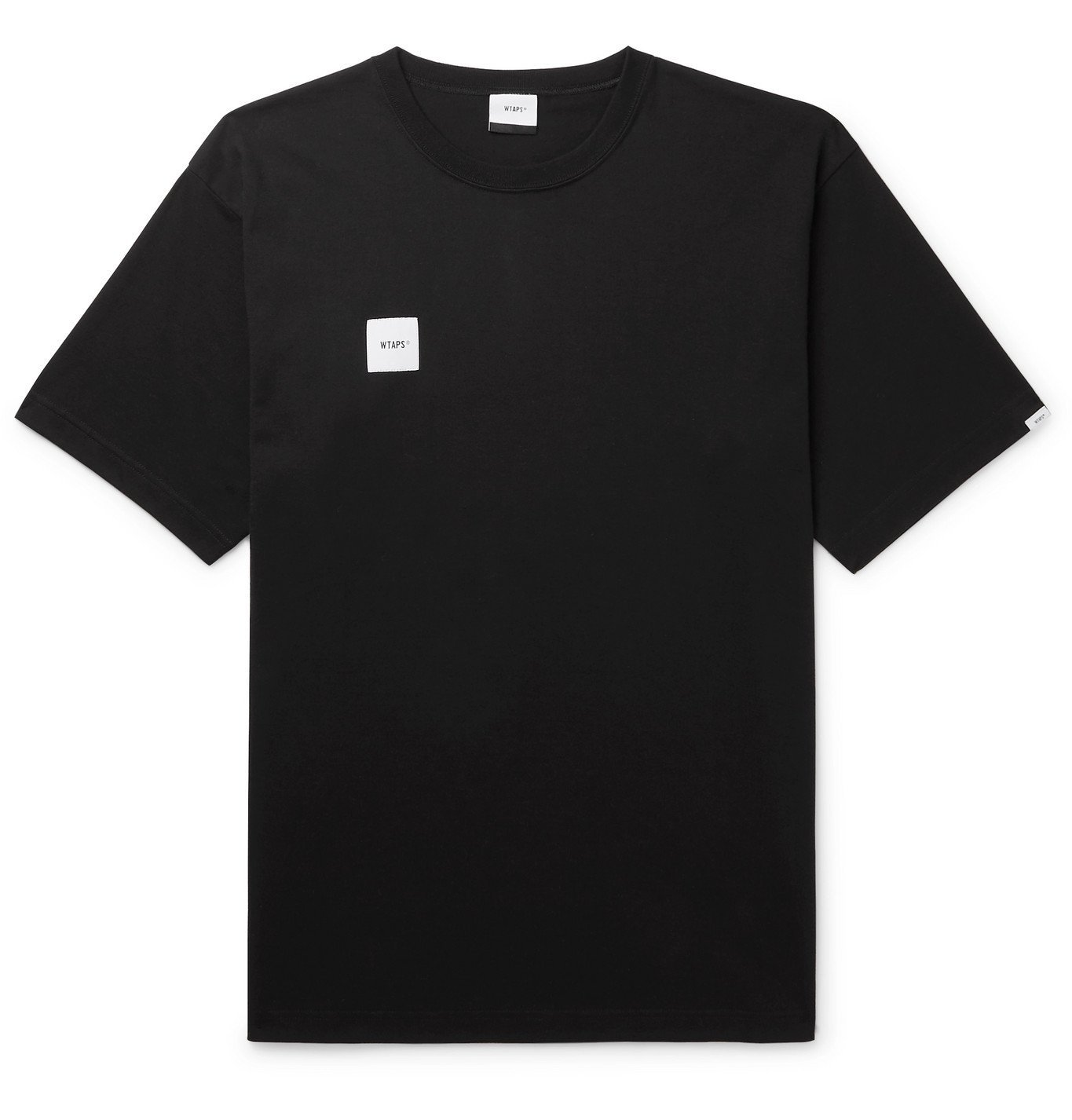 Photo: WTAPS - Logo-Appliquéd Cotton-Blend Jersey T-Shirt - Black