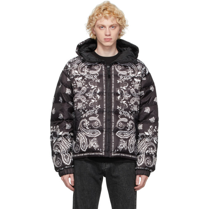 Photo: Versace Jeans Couture Black and White Down Hooded Jacket