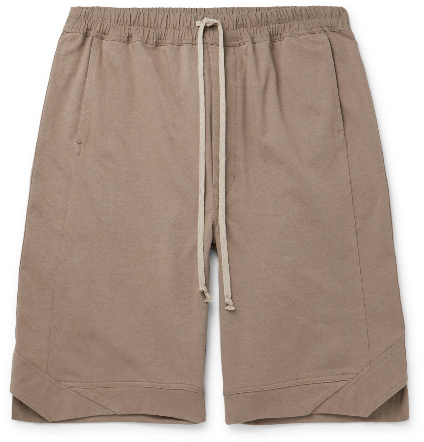 Photo: Rick Owens - Karloff Cotton-Jersey Drawstring Shorts - Neutrals