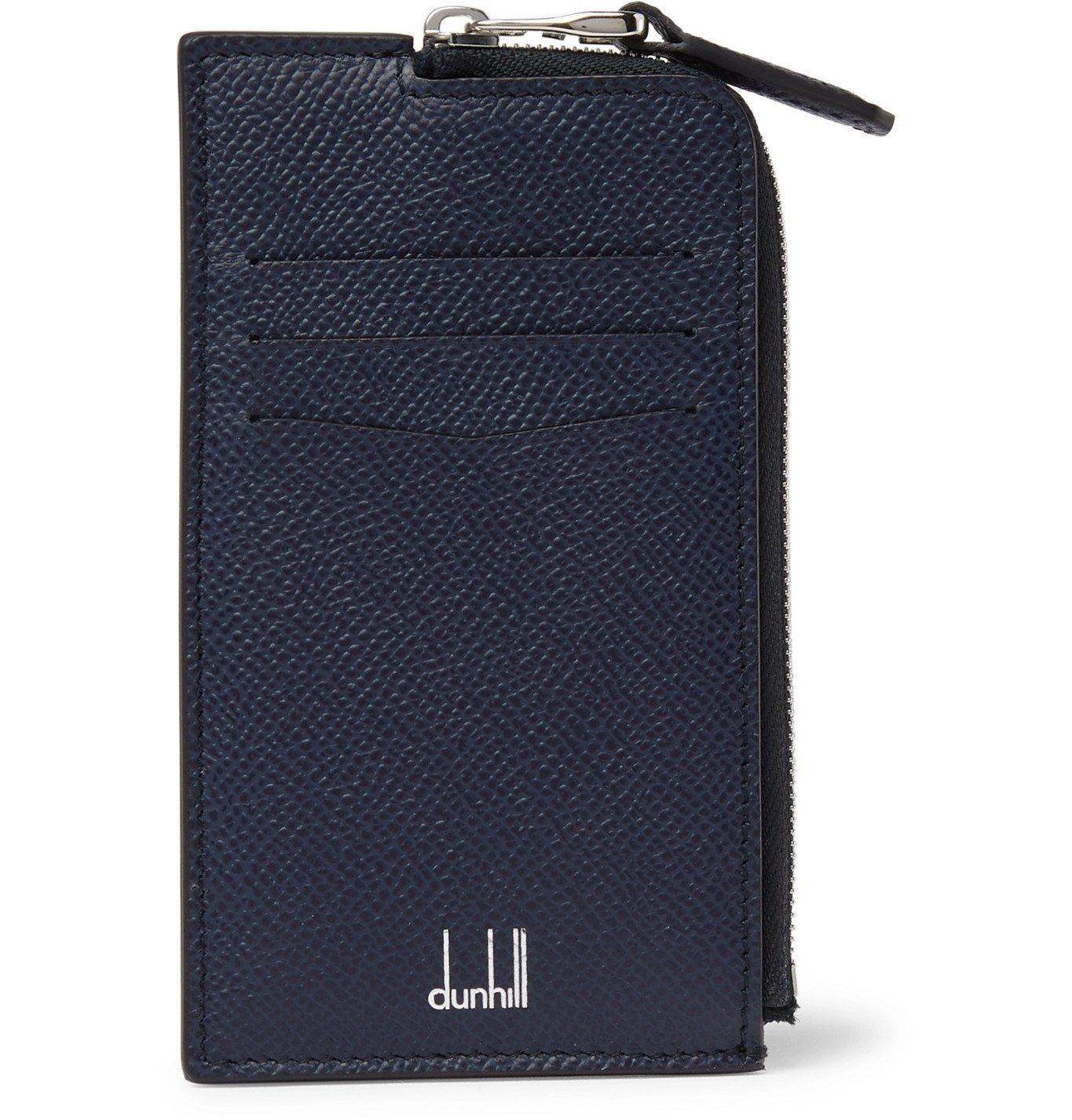 Dunhill - Full-Grain Leather Cardholder - Blue