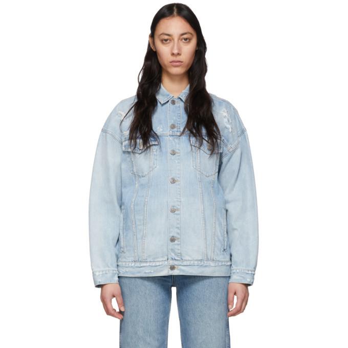 Photo: Givenchy Blue Denim Oversized Jacket