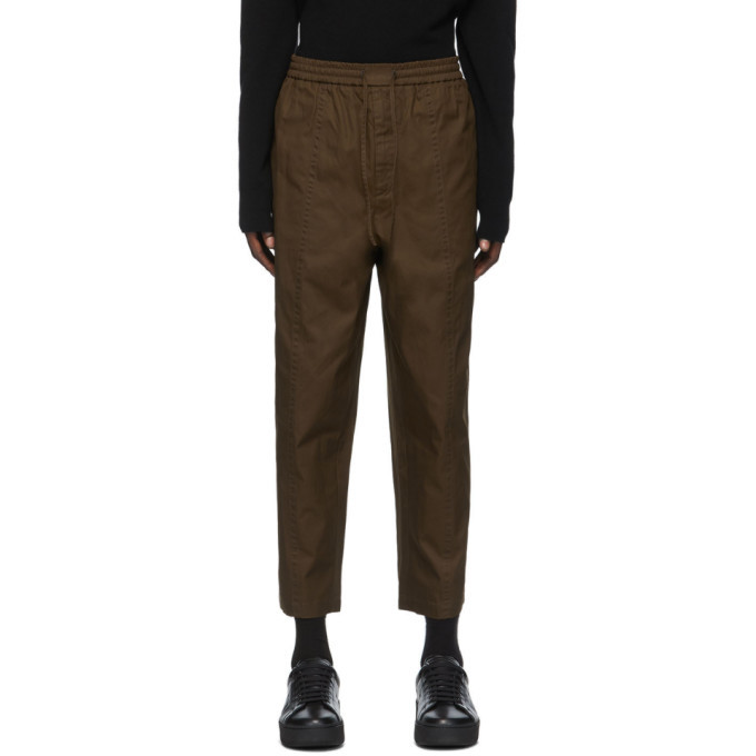 Photo: Jil Sander Khaki Gabardine Cropped Trousers