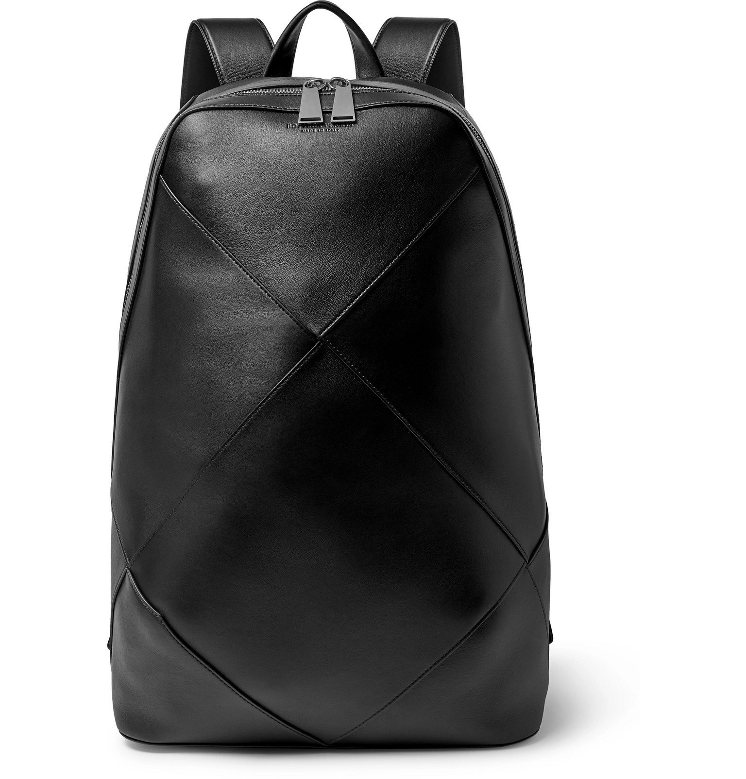 Bottega Veneta - Intrecciato Leather Backpack - Black