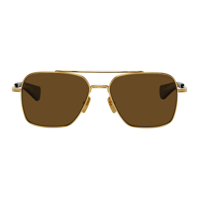Photo: Dita Gold and Brown Flight-Seven Sunglasses
