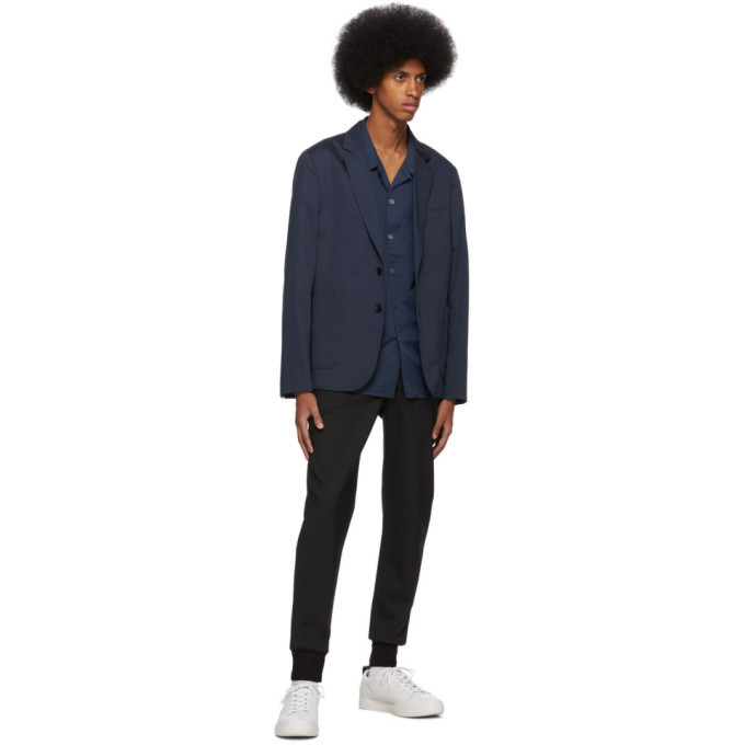 PS by Paul Smith Blue Casual Bowling Shirt