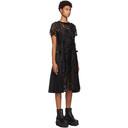 Sacai Black Paisley Lace Dress