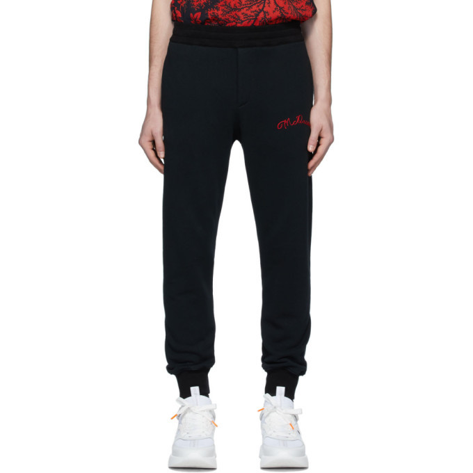 Photo: Alexander McQueen Black Vintage Loopback Lounge Pants