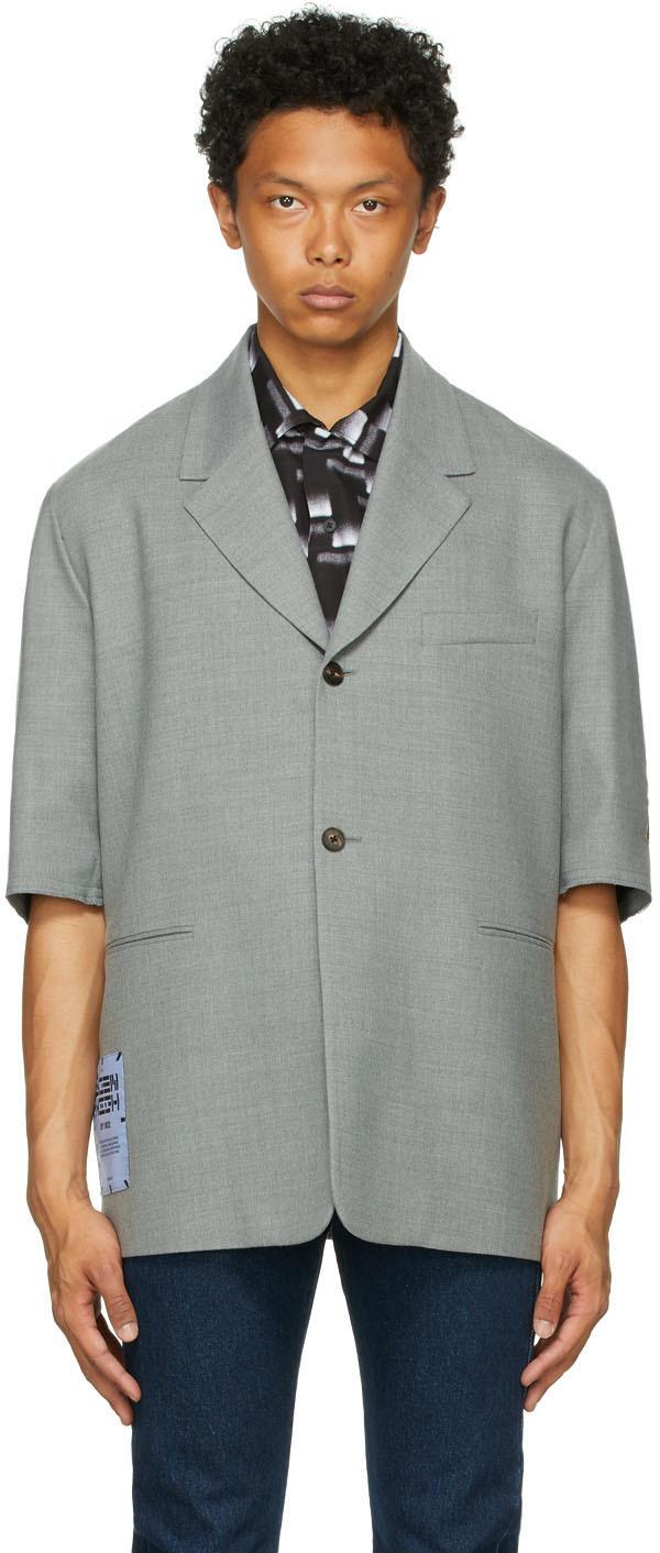 MCQ Grey Cutoff Blazer