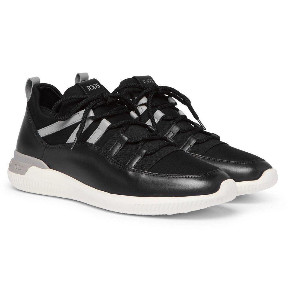 Tod's - Leather and Neoprene Sneakers - Men - Black