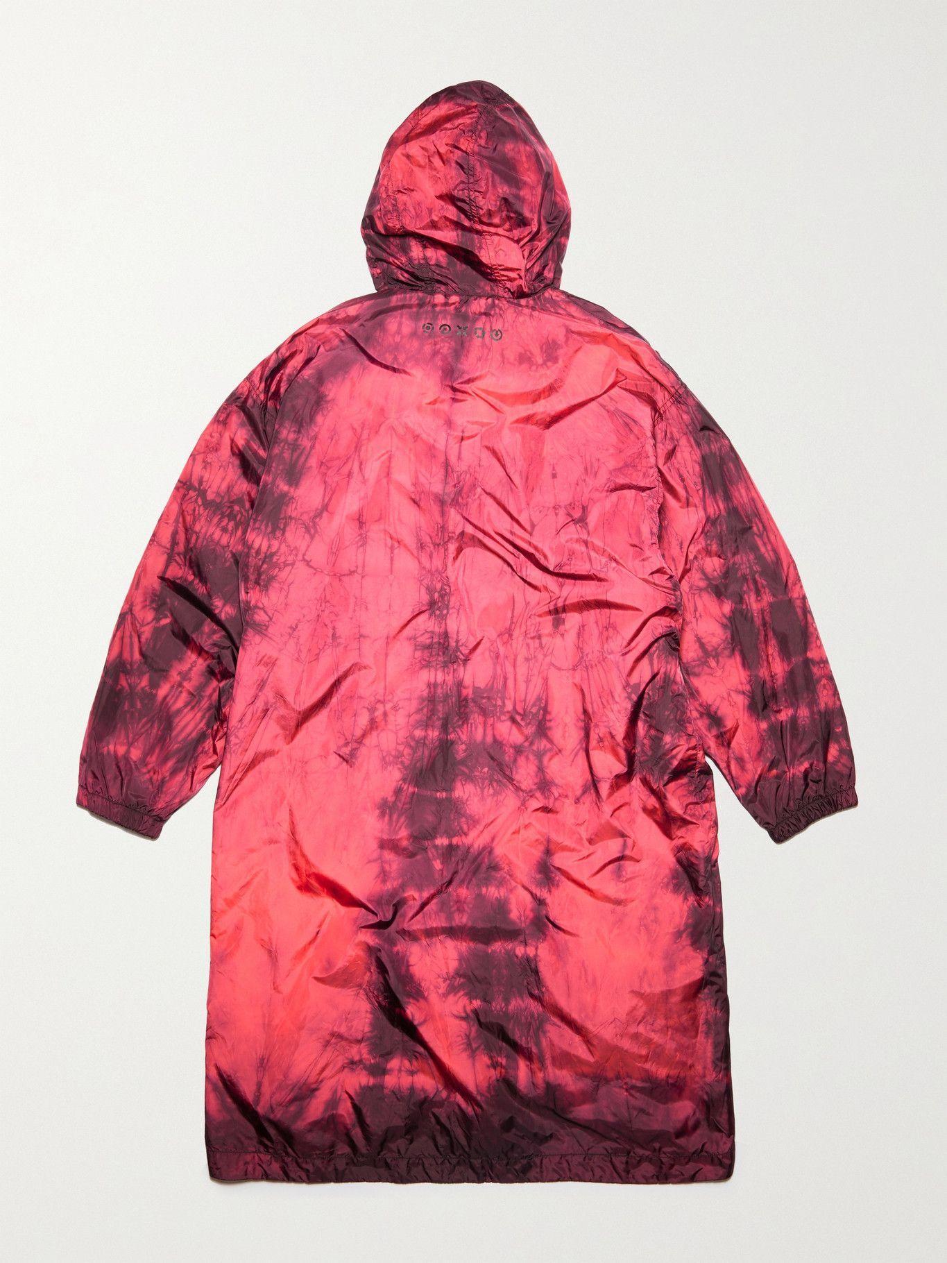 Photo: ACNE STUDIOS - Oreti Tie-Dyed Nylon Hooded Jacket - Pink