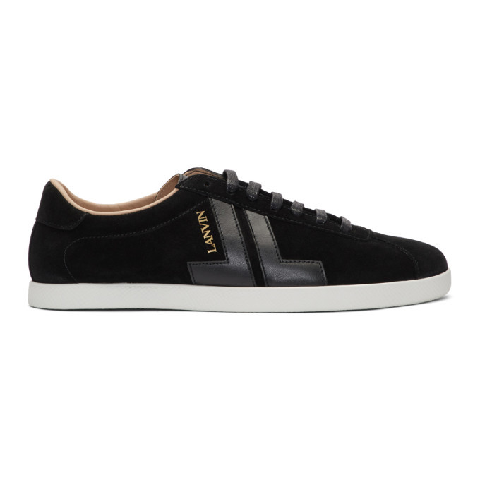 Photo: Lanvin Black JL Sneakers