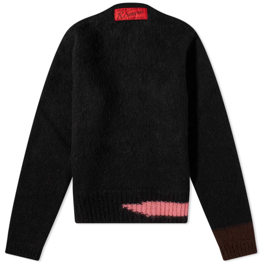 Photo: Raf Simons Intarsia Neck Logo Knit