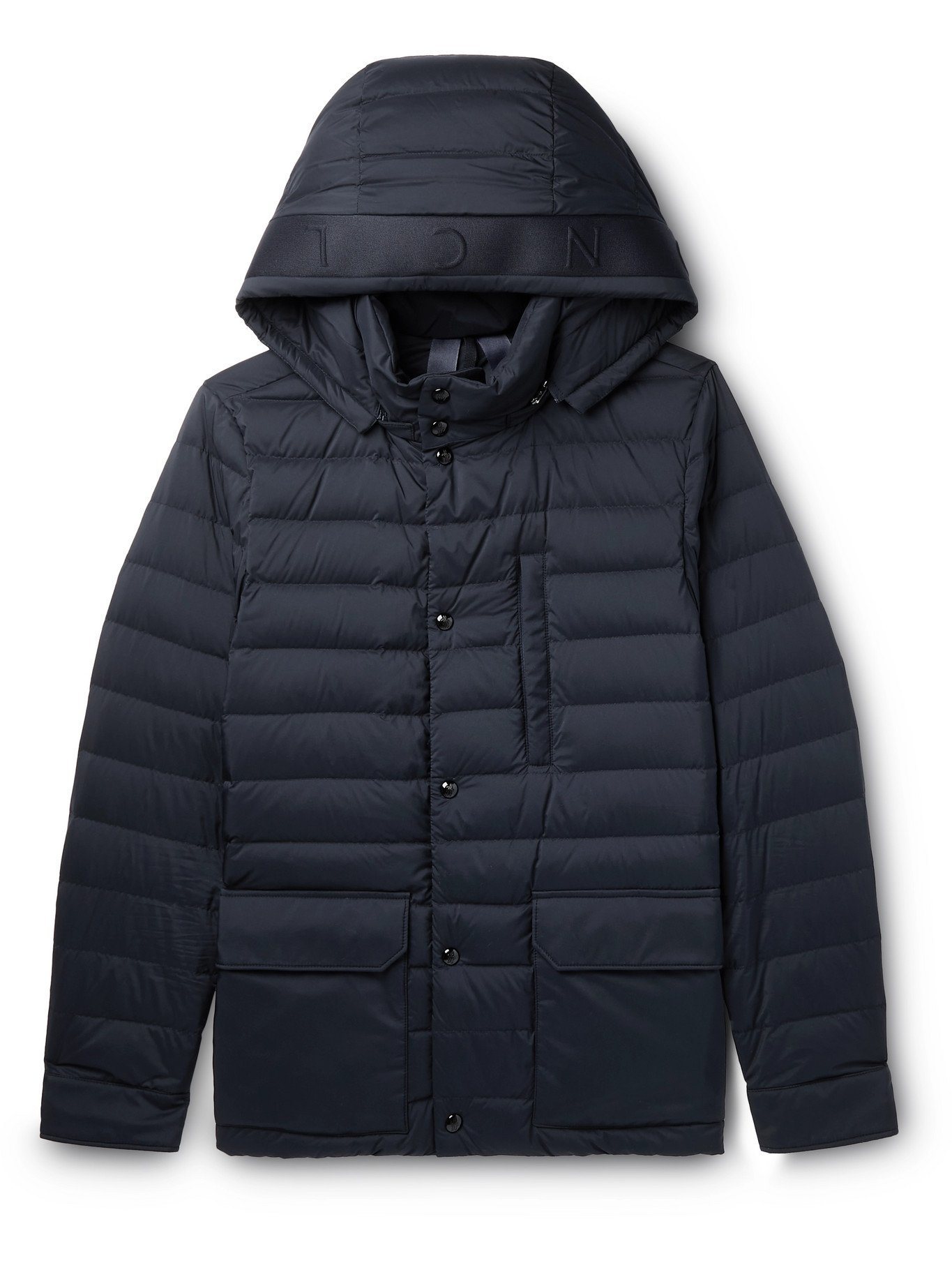 Photo: MONCLER - Andrea Quilted Shell Hooded Down Jacket - Blue - 1