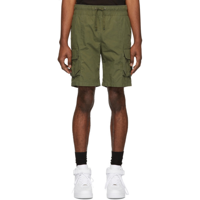 Photo: John Elliott Green Military Cargo Shorts