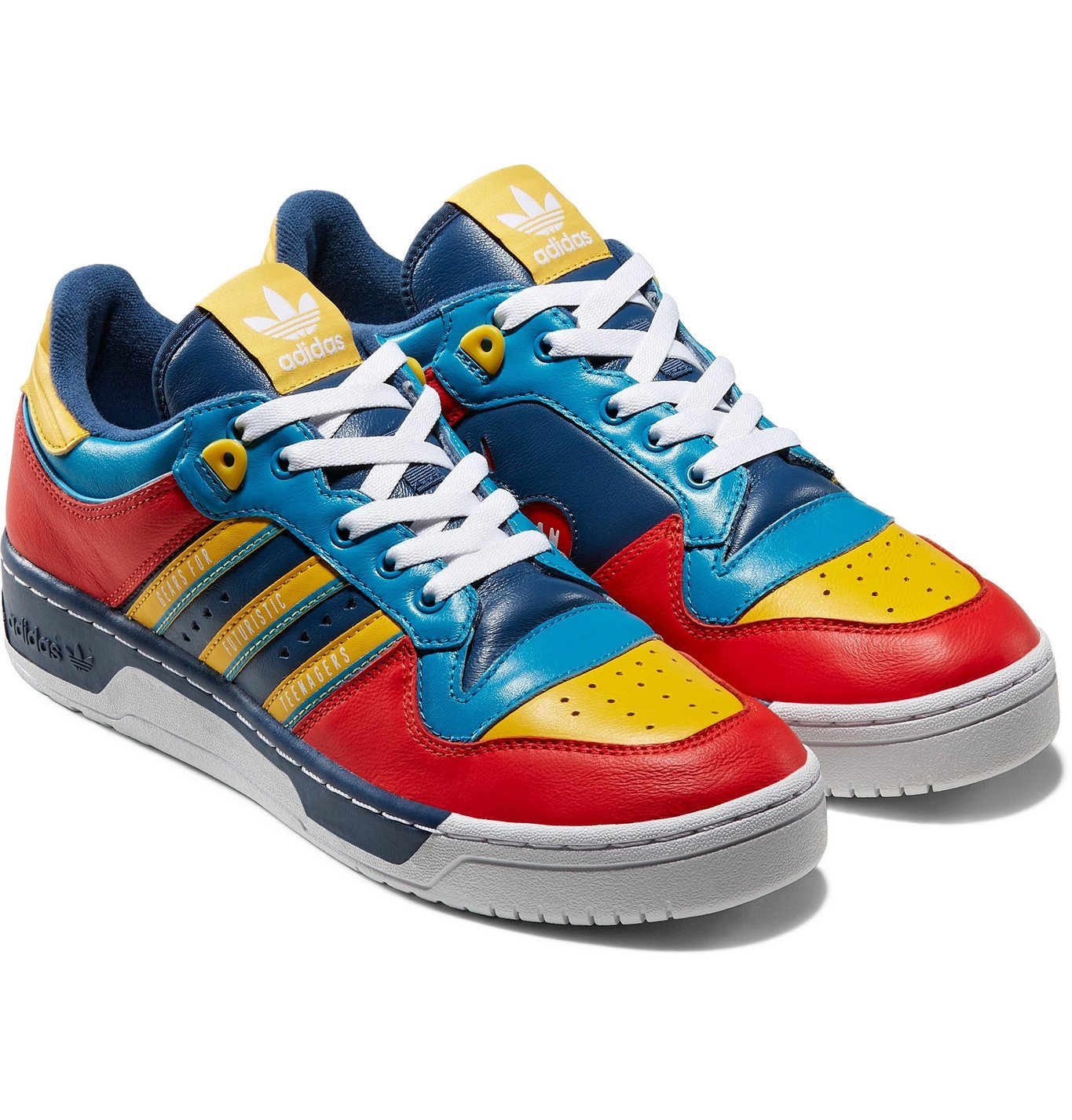 Photo: adidas Consortium - Human Made Rivalry Colour-Block Leather Sneakers - Red