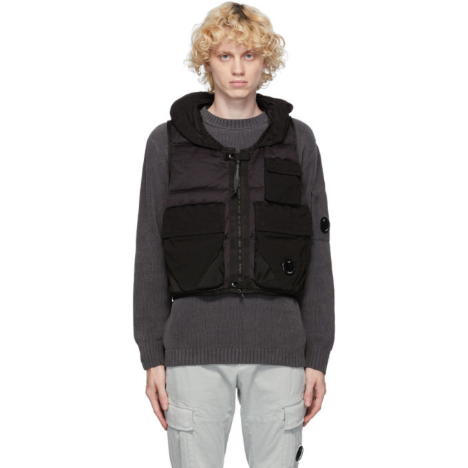 Photo: C.P. Company Black Down Cargo Vest