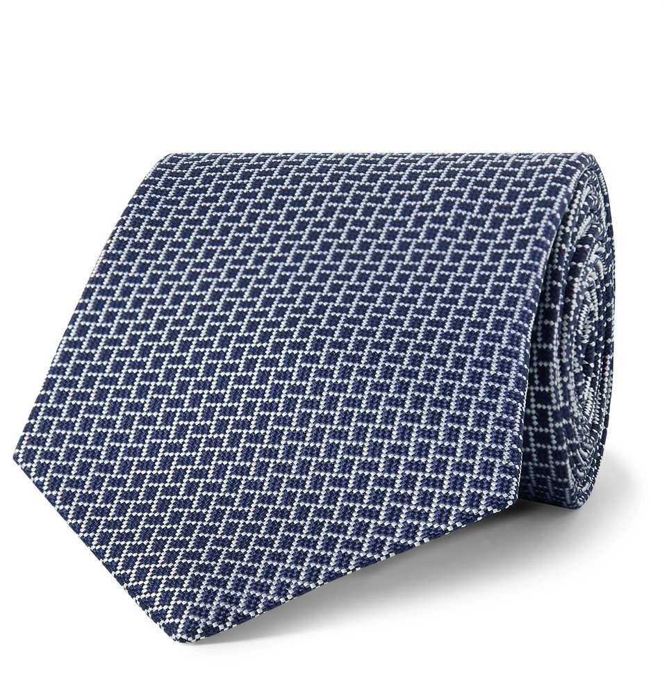 Dunhill - 8cm Mulberry Silk-Jacquard Tie - Men - Navy