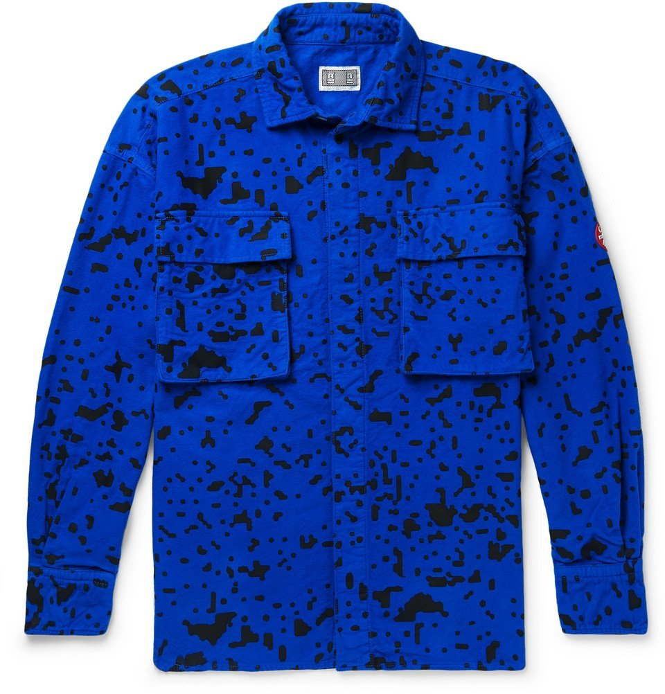 Photo: Cav Empt - Noise Printed Cotton-Flannel Shirt - Men - Blue
