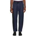 3.1 Phillip Lim Navy and Burgundy Double Track Lounge Pants