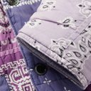 KAPITAL - Quilted Patchwork Bandana-Print Padded Cotton Jacket - Purple