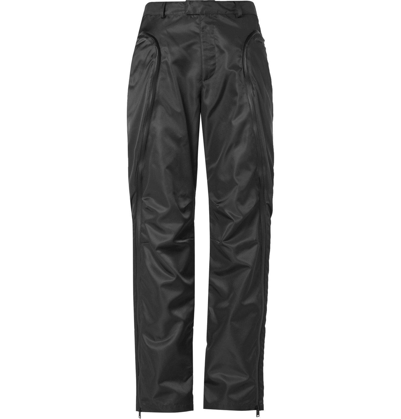 Photo: Bottega Veneta - Zip-Detailed Nylon-Gabardine Trousers - Gray