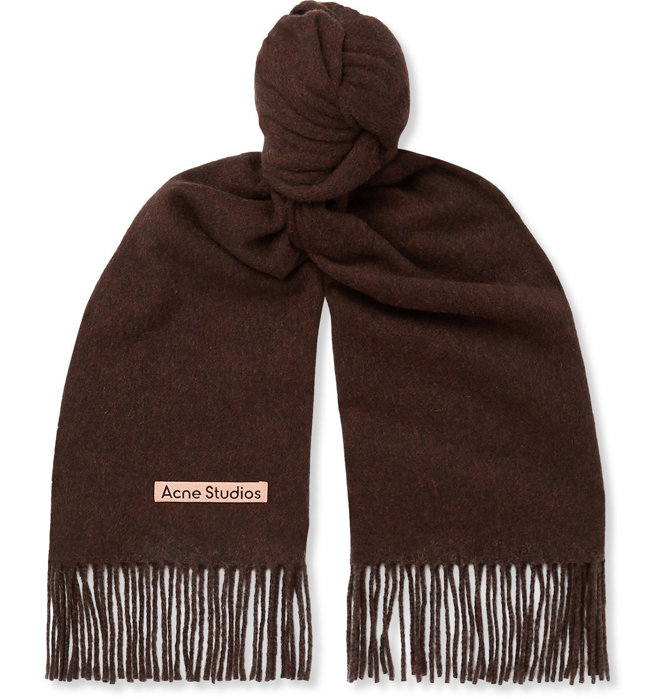 Photo: Acne Studios - Canada Fringed Mélange Wool Scarf - Brown