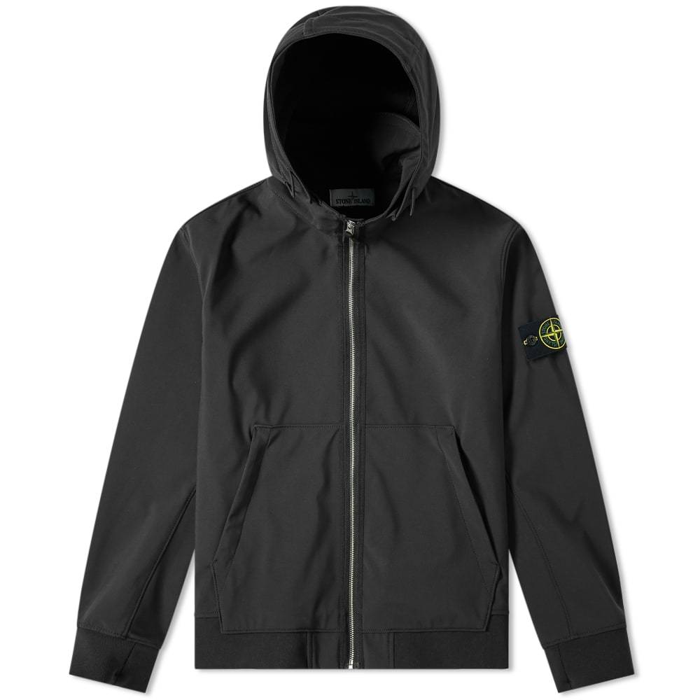 Photo: Stone Island Soft Shell R Fixed Hood Jacket Black