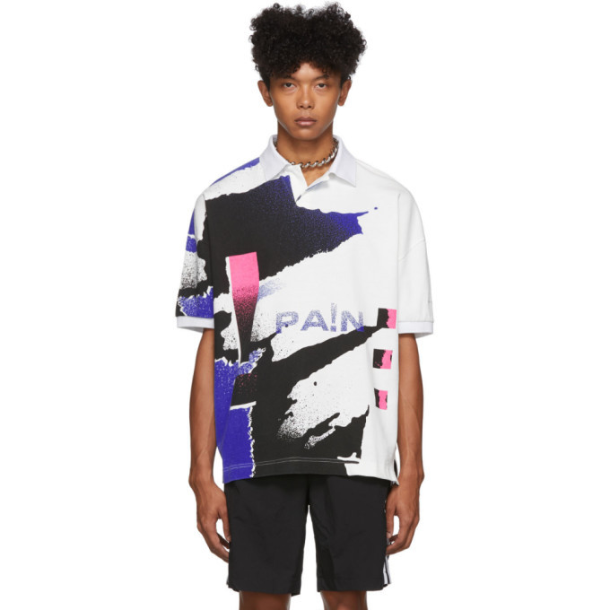 Photo: Alexander Wang White and Blue Compact Jersey Polo