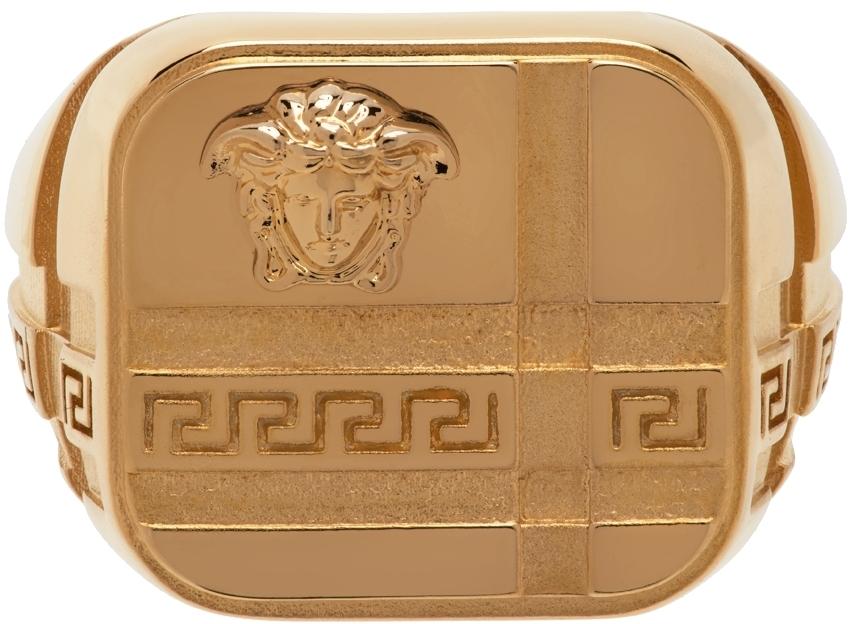 Photo: Versace Gold Medusa Signet Ring