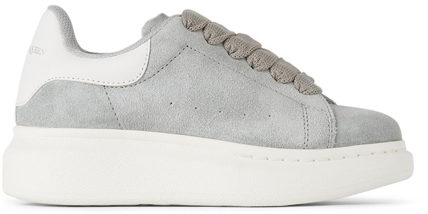 Photo: Alexander McQueen Kids Grey Oversized Sneakers