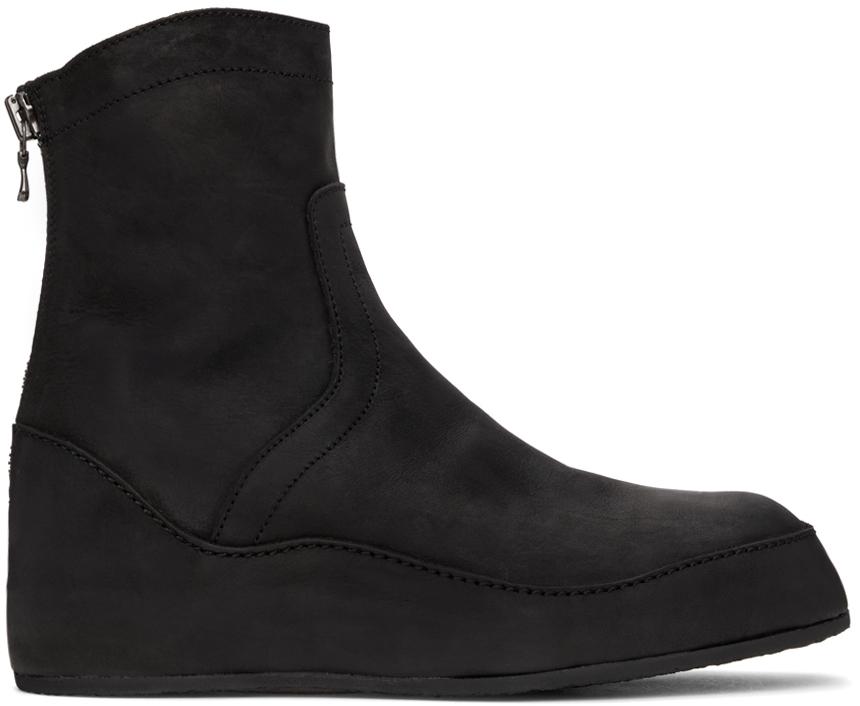 Photo: Julius Black Nubuck In-Heel Boots