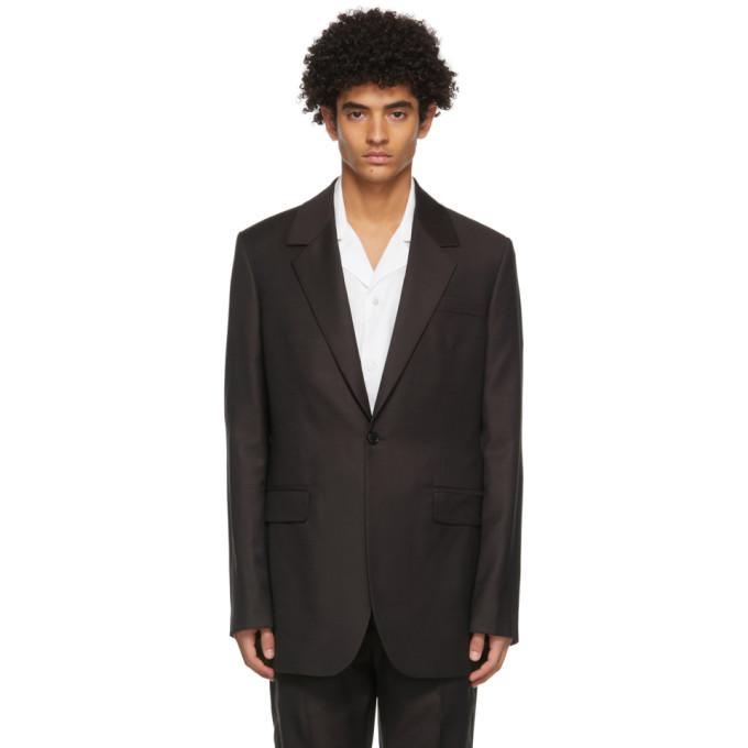 Photo: Acne Studios Burgundy Wool Slim Suit Blazer