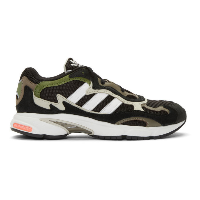 adidas Originals Black and White Temper Run Sneakers