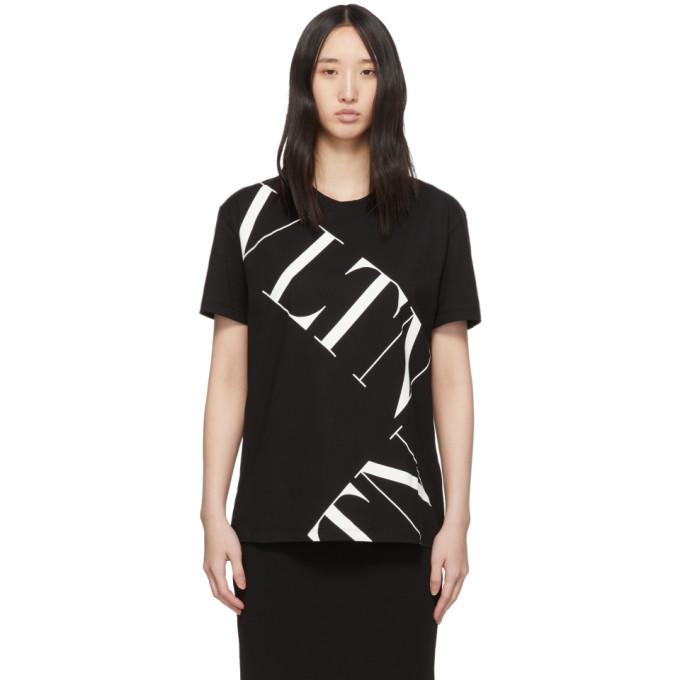 Photo: Valentino Black VLTN Grid T-Shirt