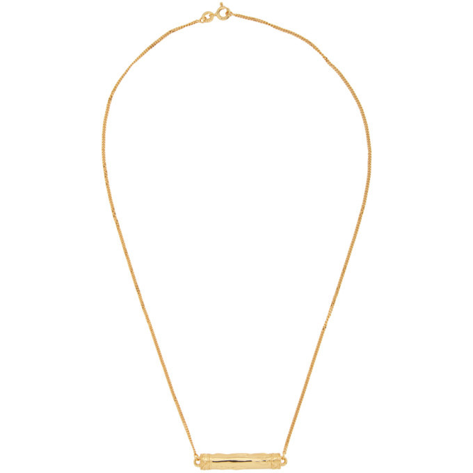 Photo: Dear Letterman SSENSE Exclusive Gold Alina Pendant Necklace