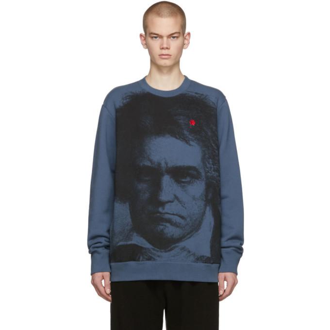 Photo: Undercover Blue Face Rose Sweatshirt