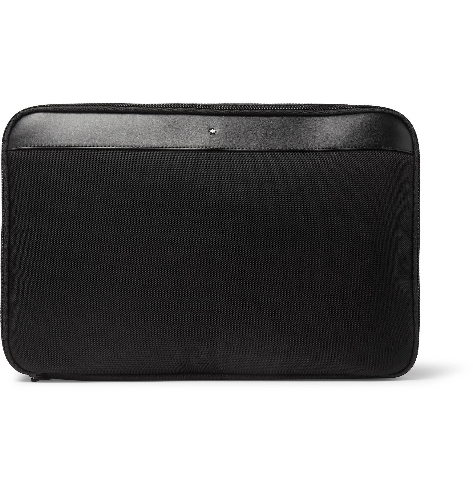 Photo: Montblanc - Nightflight Leather-Trimmed Canvas Shirt Pouch - Black