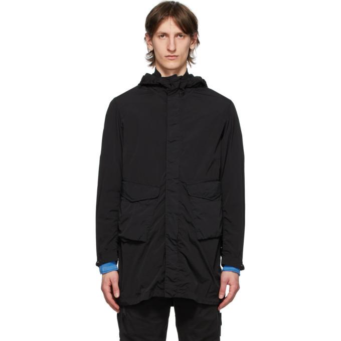C.P. Company Black Goggles Hooded Coat