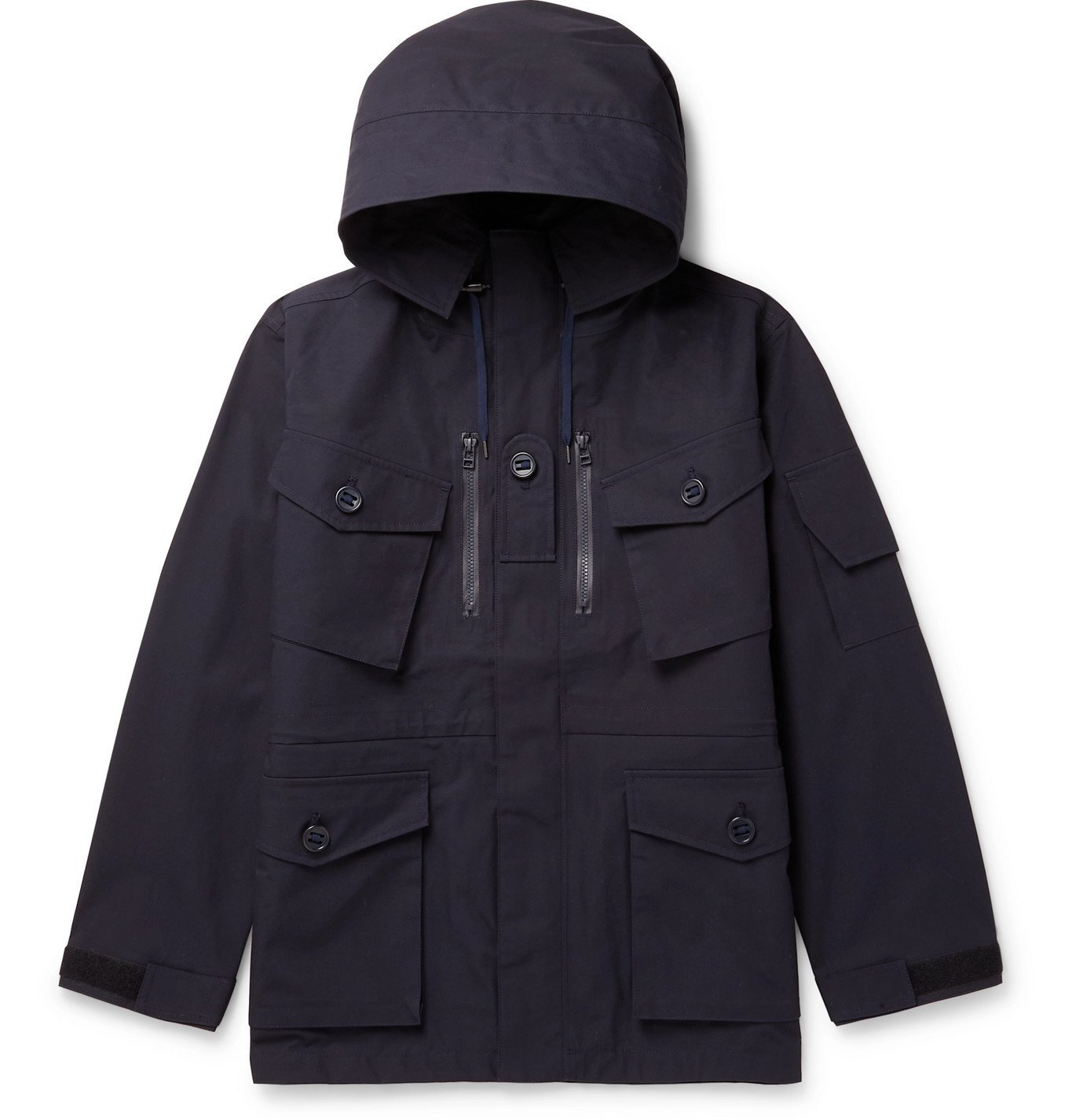 Photo: nanamica - Cruiser Padded GORE-TEX Hooded Down Jacket - Blue