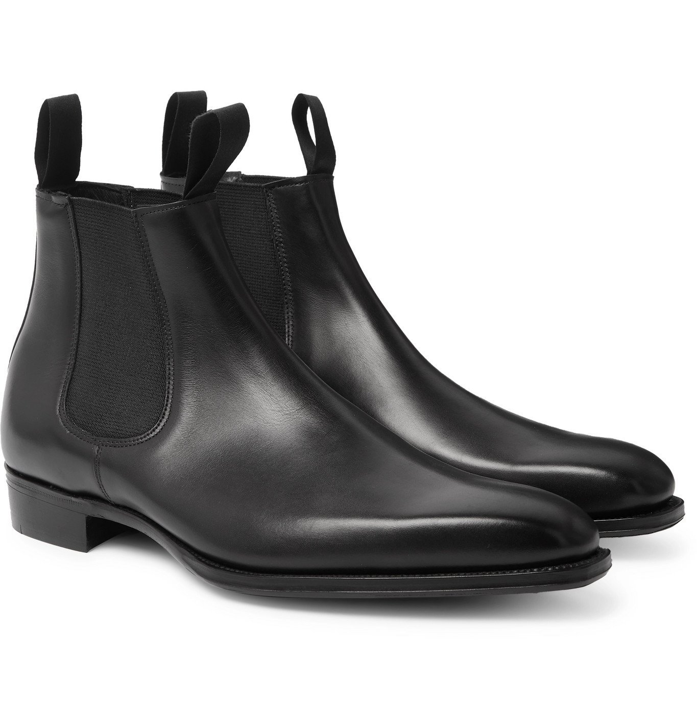 Photo: George Cleverley - Robert Leather Chelsea Boots - Black