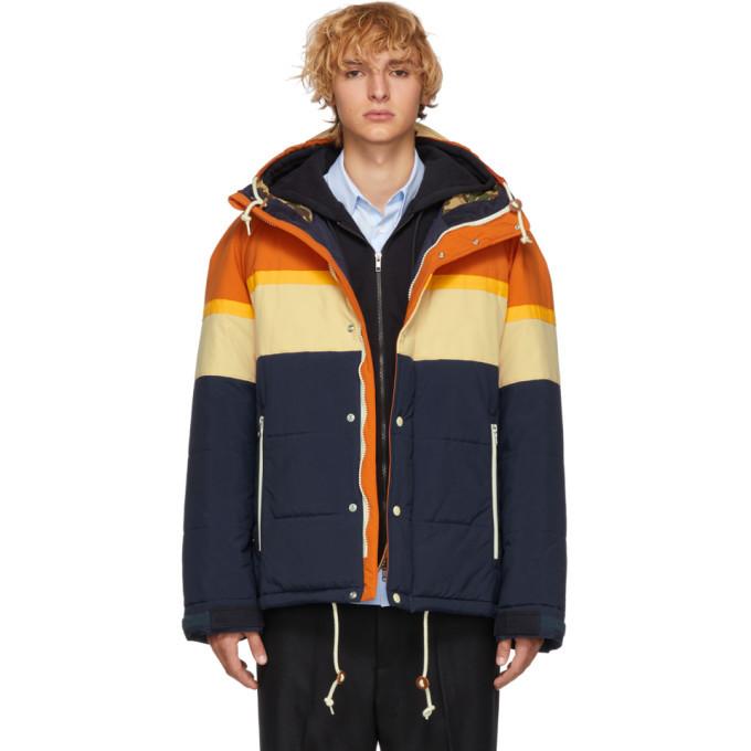 Photo: Junya Watanabe Orange and Navy Taffeta Jacket