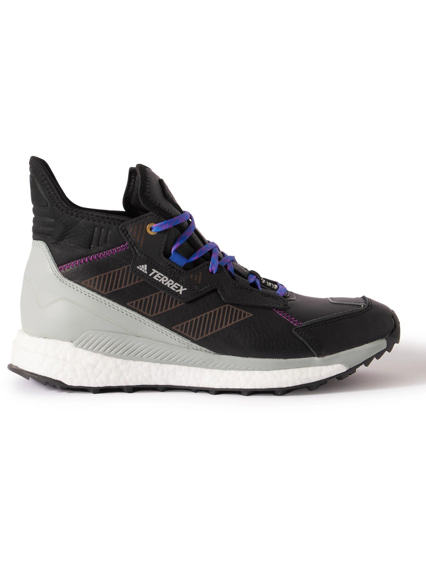 Photo: adidas Sport - Terrex Free Hyperblue Leather Hiking Shoes - Black