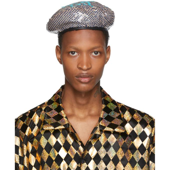 Photo: Gucci Multicolor GG Sequin Beret